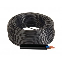 Manguera Eléctrica Negra Cable Flexible 2x1,5 RV-K 1000V