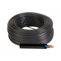 Manguera Eléctrica Negra Cable Flexible 2x6 RV-K 1Kv