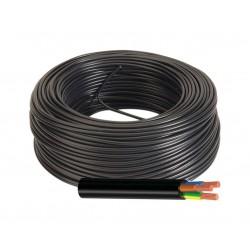 Manguera Eléctrica Cable Flexible Color Negro 3x1 H05VV-F 500V
