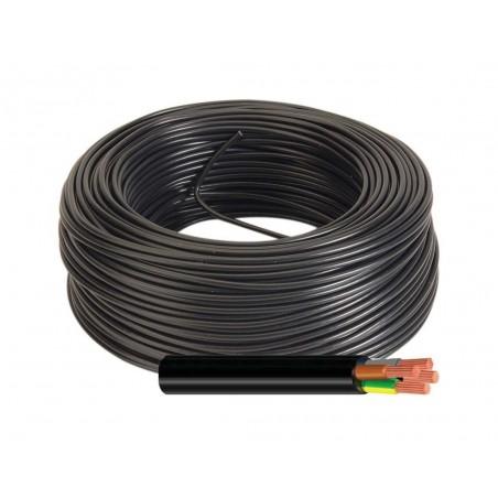 Manguera Eléctrica Negra 4x1 Cable Flexible H05VV-F 500V