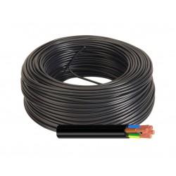 Manguera Eléctrica Negra Cable Flexible 5x6 RV-K 1Kv