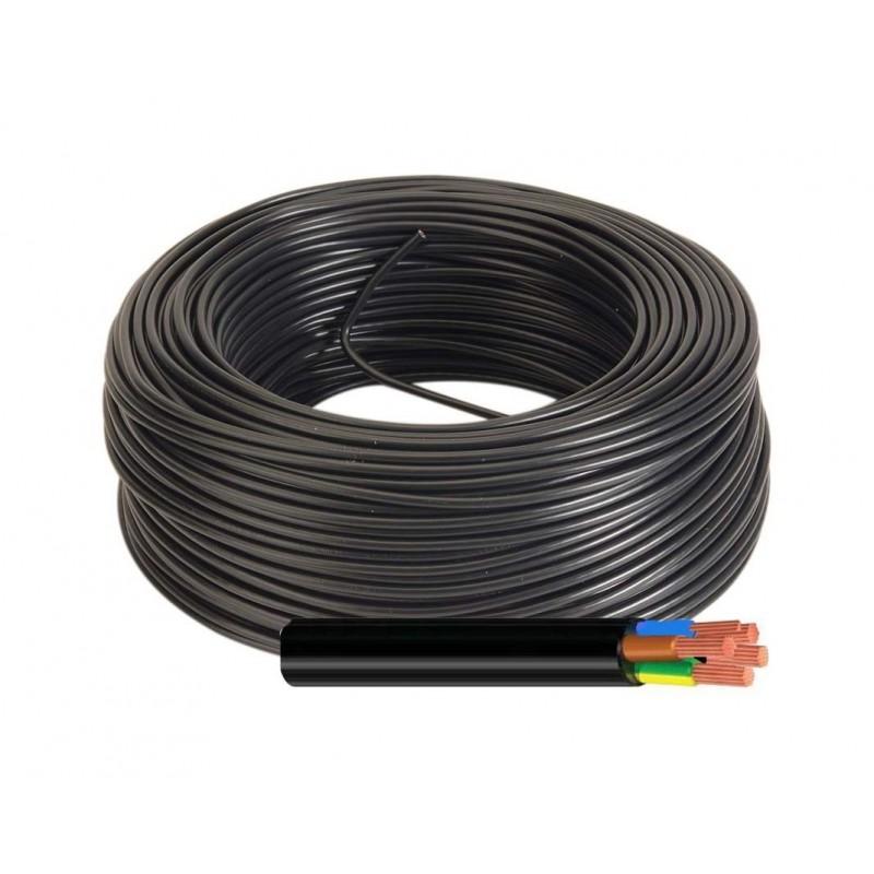 Manguera Eléctrica Negra 5x1 Flexible H05VV-F 500V