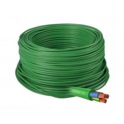 Manguera Eléctrica Flexible Verde Libre de Halógenos 3x2,5 RZ1-K 1Kv