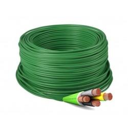 Manguera Eléctrica Flexible Verde Libre de Halógenos 4x2,5 RZ1-K 1Kv