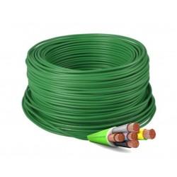 Manguera Eléctrica Flexible Verde Libre de Halógenos 5x1,5 RZ1-K 1000