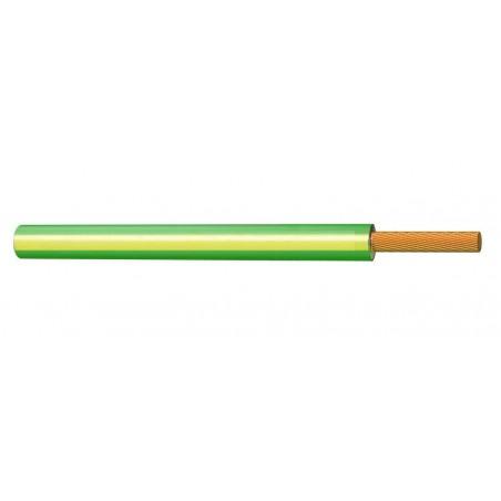 Cable Eléctrico Normal Unipolar 1,5 mm² AMARILLO VERDE H07V-K