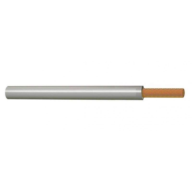 Cable Flexible Normal Eléctrico 6 mm² GRIS 450-750V H07V-K