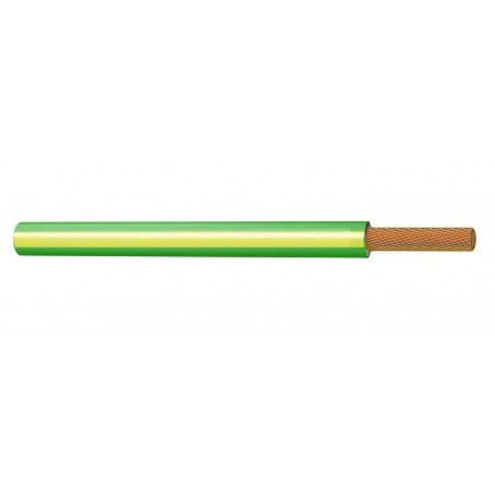 Cable Eléctrico Normal Unipolar 6 mm² AMARILLO VERDE H07V-K