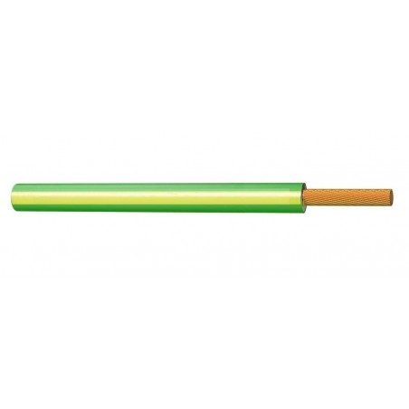 Cable Libre de Halógenos 1,5 mm² AMARILLO VERDE 750V H07Z1-K (AS)
