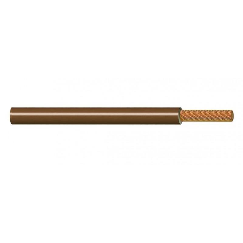 Cable Flexible Libre de Halógenos 6 mm² MARRÓN 750V (AS) H07Z1-K