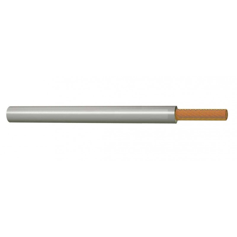Cable Eléctrico Libre de Halógenos 6 mm² GRIS 750V H07Z1-K (AS)