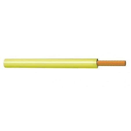 Cable Flexible Eléctrico Normal 1 mm² Amarillo 300-500V H05V-K
