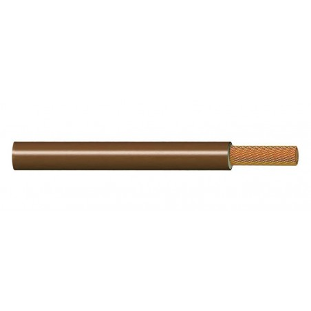 Cable Flexible Libre de Halógenos 25 mm² MARRÓN 750V H07Z1-K