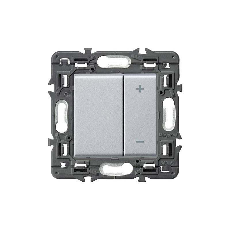 Ecoregulador de luz Legrand Valena Next 2 Hilos 741354 Aluminio