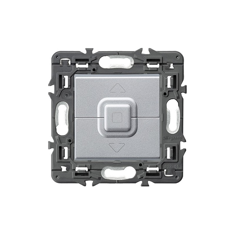 Interruptor Doble control de Persianas 741352 Legrand Valena Next Aluminio
