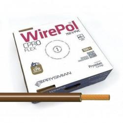 Cable flexible unipolar 4 mm² Marrón H07V-K4 MA 100 Metros