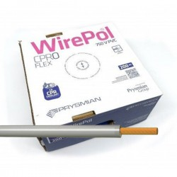 Cable eléctrico unipolar 1,5 mm² Gris H07V-K1,5GR 200 M