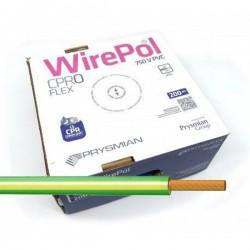 Cable flexible 1,5 mm² Amarillo-Verde H07V-K1,5AV 200 M
