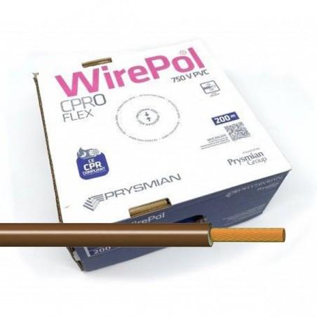 Cable flexible normal 2,5 mm² Marrón H07V-K2,5MA 200 Metros