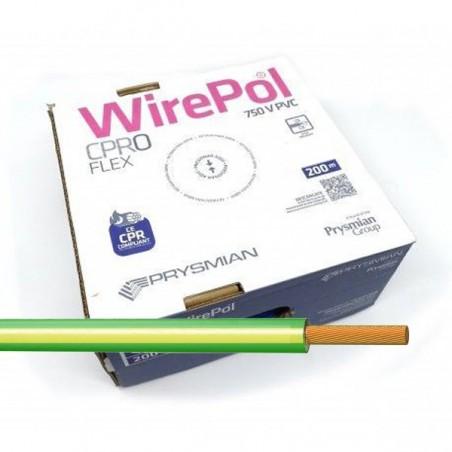 Cable flexible 2,5 mm² Amarillo-Verde H07V-K2,5AV 200 M