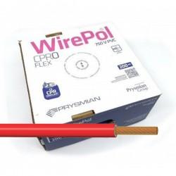 Cable unipolar flexible 2,5 mm² Rojo H07V-K2,5RO 200 Metros