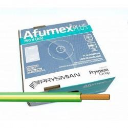 Cable Amarillo-verde libre de halógenos ES07Z1KAS 10 mm² 100 M.
