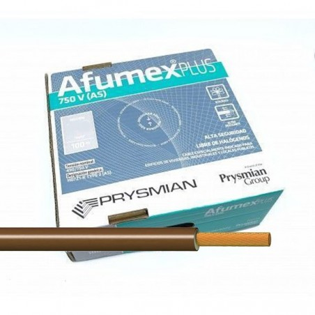 Cable libre de halógenos ES07Z1KAS16MA 16 mm² Marrón 100 Metros