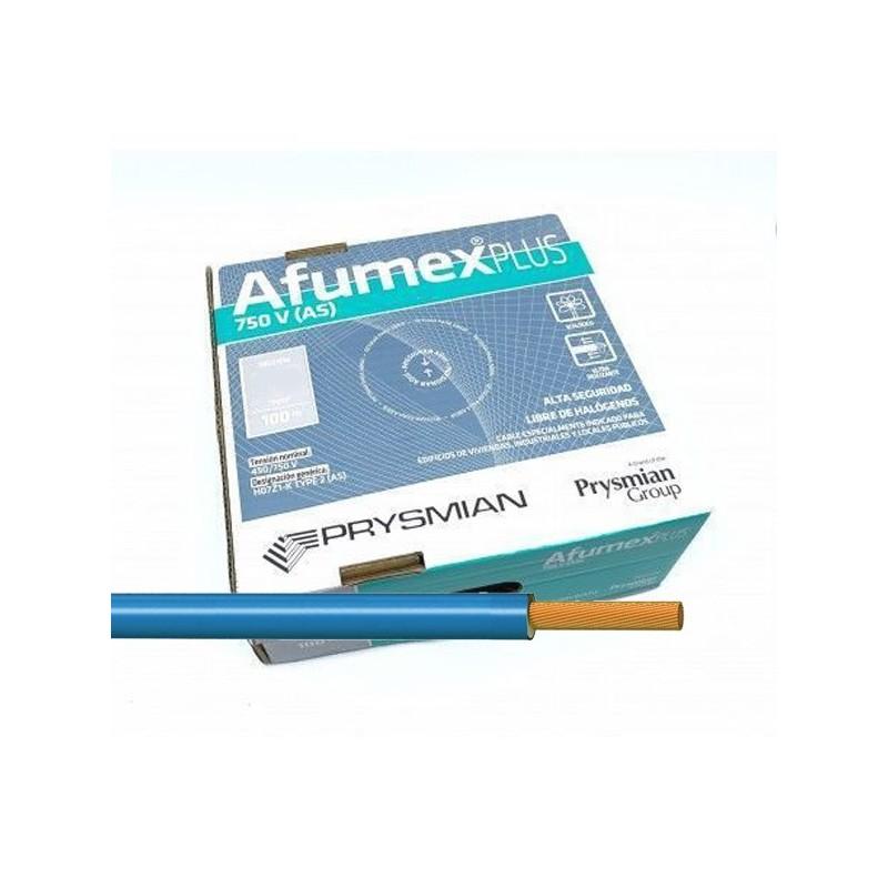 Cable flexible Azul libre halógenos 16 mm² ES07Z1KAS16AZ 100 Metros