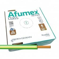 Cable libre de halógenos ES07Z1KAS4AM/V 4 mm² Amarillo-verde 100 M.