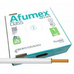 Cable flexible libre halógenos 1 mm² Blanco ES07Z1KAS1ABL