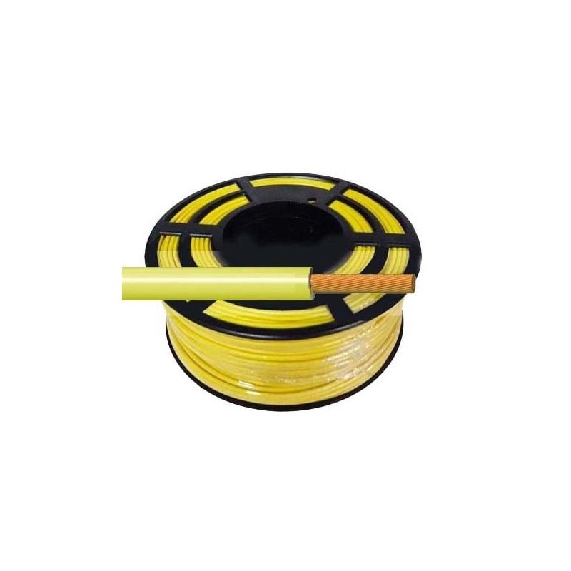 Cable Flexible Normal 1 mm² Amarillo 100 Metros H07V-K1AMCA
