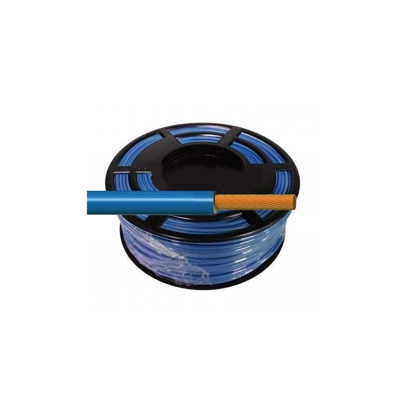 Cable Flexible Normal 1 mm² Azul 100 Metros H07V-K1AZCA