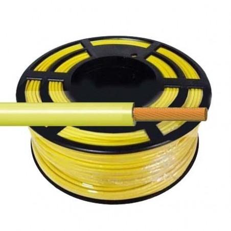 Cable Flexible Normal 1,5 mm² Amarillo 100 Metros H07V-K1,5AMCA