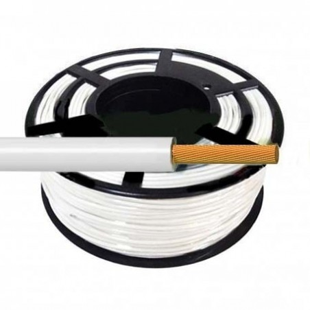 Cable Flexible Normal 1,5 mm² Blanco 100 Metros H07V-K1,5BLCA