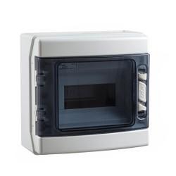 Caja de Distribución Estanca IDE IP65 Superficie 8 Módulos CDN8PT