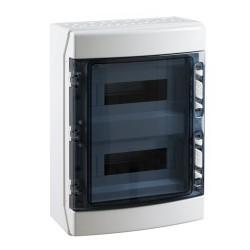 Caja Distribución Estanca 2X12 24 Módulos IP65 Superficie IDE CDN24PT