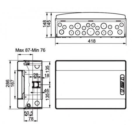 Caja Distribución Estanca CDN18PT 18 Módulos IP65 Superficie IDE