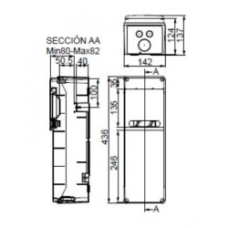 Cuadro Eléctrico Especial 6 Módulos 4 Bases Enchufe 2P+TT 16A IDE SV4100