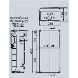 Cuadro Especial 9 Módulos 9 bases enchufe 2P+TT 16A SV9100 IDE