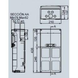Cuadro eléctrico IP65 Superficie 9 Módulos 4 Tapas lisas PCSN9PT IDE