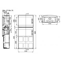 Cuadro Especial IDE 2x12 24 Módulos IP65 IDE PCSN24PT Superficie