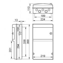 Caja para Tomas de corriente IP55 Superficie 8 Módulos IDE CS9PT