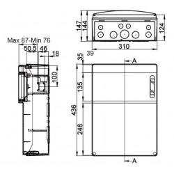 Caja para Tomas de corriente 12 Módulos IP55 Superficie CSN12PT IDE
