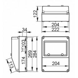 Cuadro Especial IP67 9 Módulos Base 3P+N+T Base 2P+TT V8PV2/67 IDE
