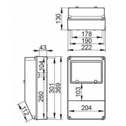 Cuadro Especial IP67 9 Módulos 3P+T 16A 32A 2 Bases 2P+TT V8MA2/67 IDE