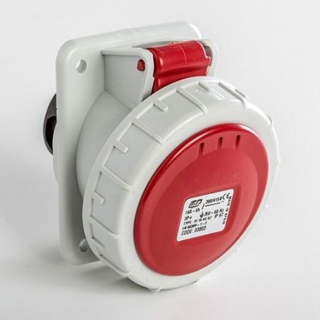Base Empotrar Inclinada Baja tensión IP67 3P+T 16A 6H 03802 IDE