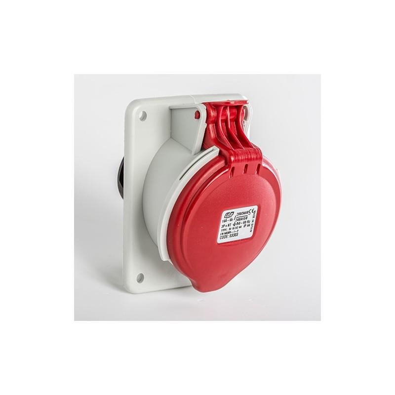 Base Enchufe empotrar Inclinada 03303 IP44 3P+N+T 16A 6H IDE