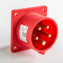 Clavija Recta para Empotrar IP44 3P+N+T 380V 16A 03113 IDE