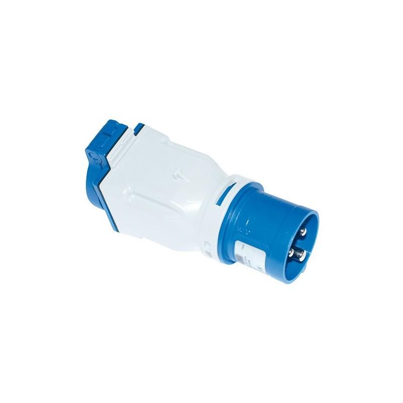 Clavija Combo tipo Schuko Azul 16A 2P+T 200/250V 00121 IDE