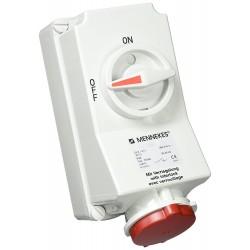 Base con Interruptor 3P+T 32A 5105A 101100008 Mennekes